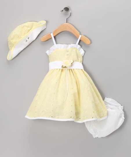 Yellow Eyelet Dress Set - Infant 