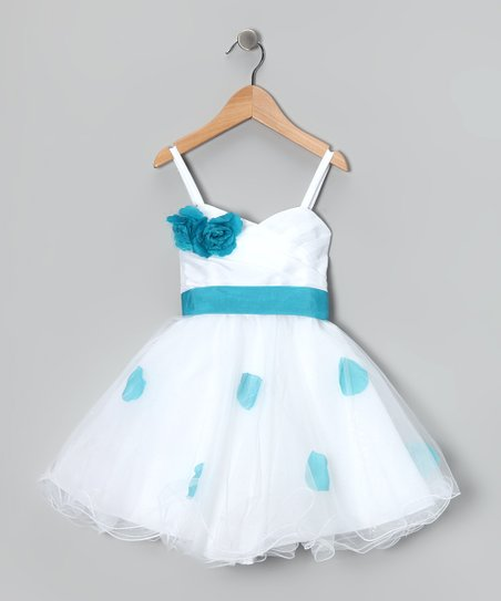 Blue Petal Flower Dress - Toddler & Girls