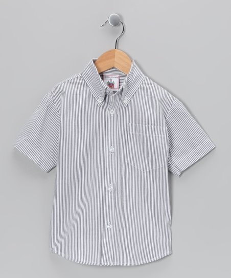 Dark Blue Seersucker Button-Up - Infant, Toddler &amp; Boys