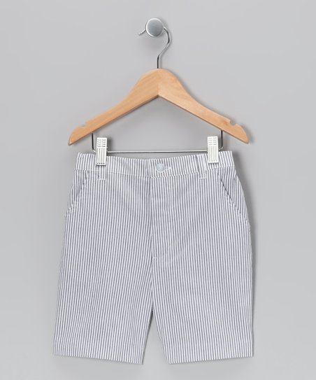 Dark Blue Seersucker Shorts - Infant, Toddler & Boys