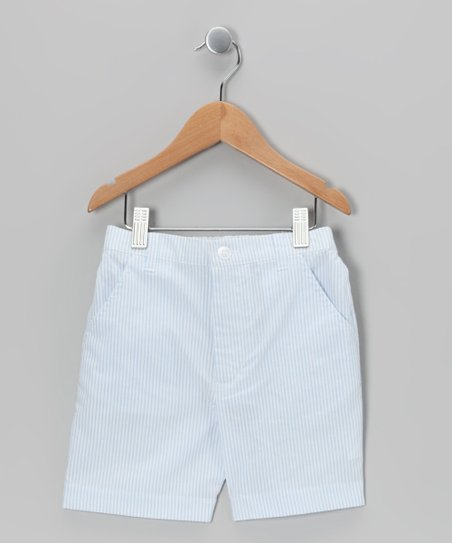 Blue Seersucker Shorts - Infant, Toddler &amp; Boys