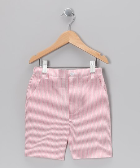 Red Seersucker Shorts - Infant, Toddler & Boys
