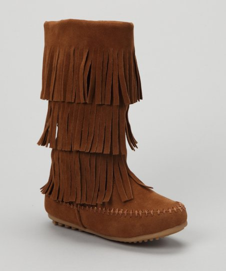 Tan Fringe Boot