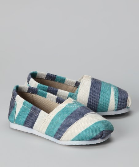 Aqua Zebra Slip-On Shoe