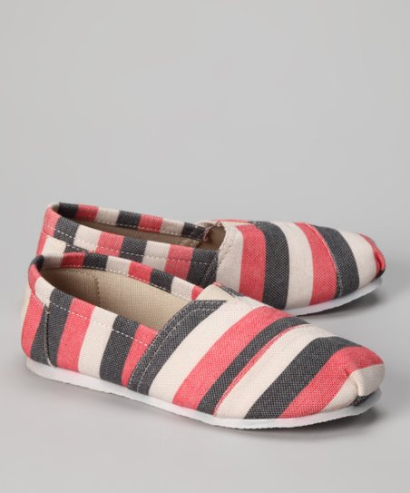 Coral Zebra Slip-On Shoe