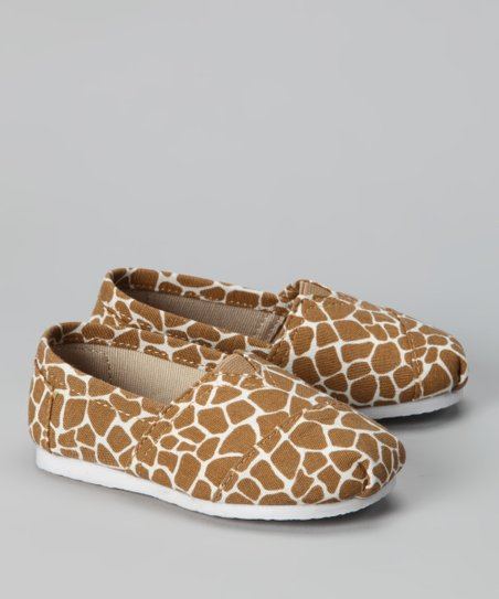 Beige Giraffe Slip-On Shoe