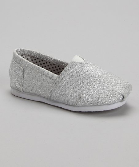 Silver Glitter Slip-On Shoe