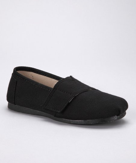 Black Canvas Adjustable Slip-On Shoe
