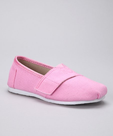 Pink Canvas Adjustable Slip-On Shoe