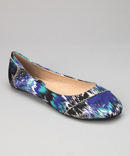 Royal Abstract Zigzag Ballet Flat