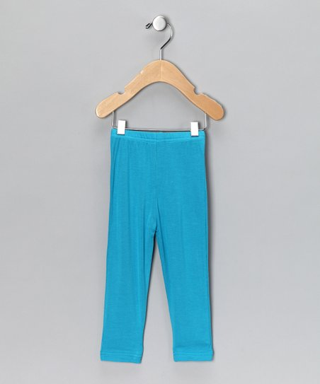 Turquoise Leggings - Infant, Toddler & Girls