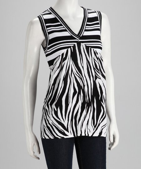 Zebra Sleeveless Top