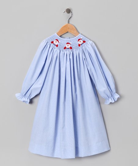 Blue Santa Claus Bishop Dress - Infant, Toddler & Girls