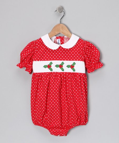 Red Holly Bubble Bodysuit - Infant