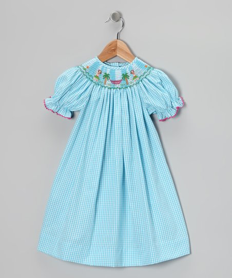 Light Blue Hula Bishop Dress - Infant &amp; Toddler