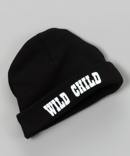 Silly Souls Black 'Wild Child' Beanie