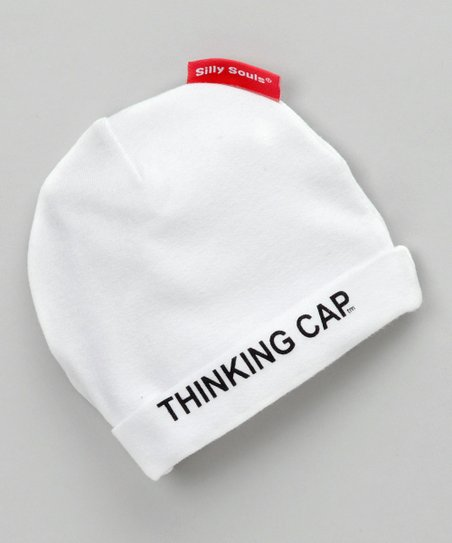White 'Thinking Cap' Beanie