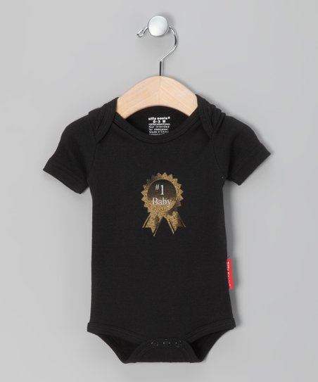 Black '#1 Baby' Bodysuit - Infant