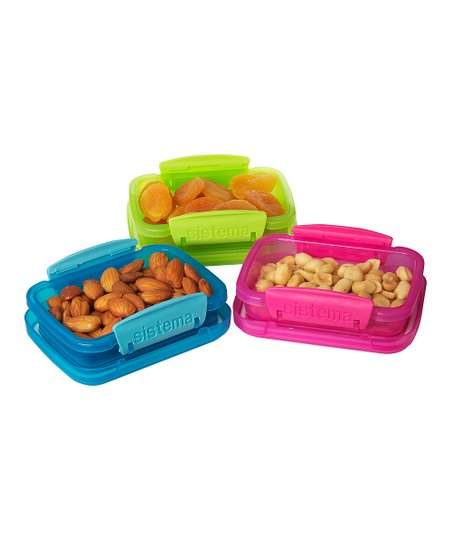 Color Block 6.8-Oz. KLIP IT Container Set