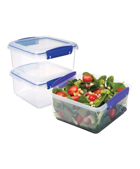Blue 40-Oz. Lunch Plus Container - Set of Three