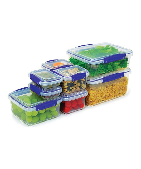 Blue Eight-Piece Large KLIP IT Container Set