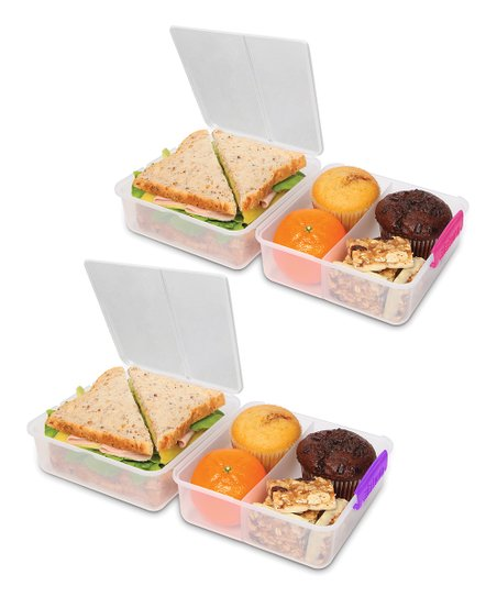Pink & Purple KLIP IT Lunch Cube - Set of Two