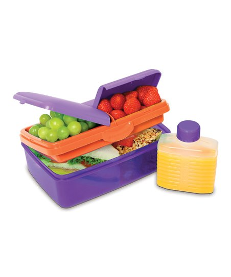 Purple 50-Oz. Slimline Quaddie Lunch Box &amp; Water Bottle