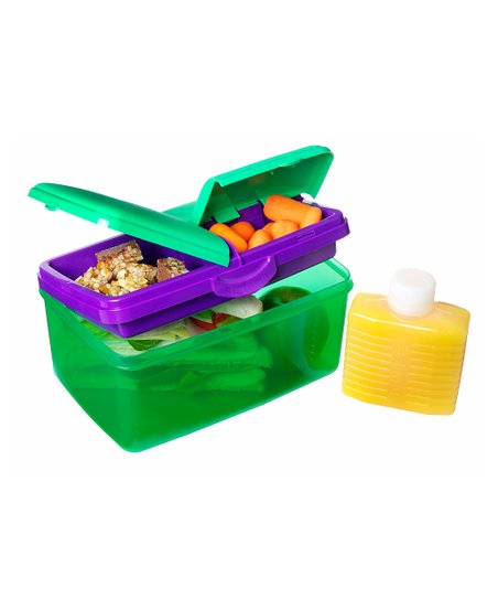 Green 93-Oz. KLIP IT Quaddie Lunch Box &amp; Water Bottle