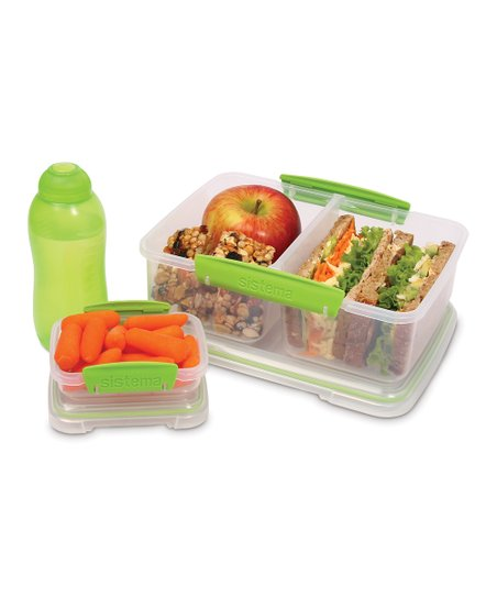 Green Three-Piece Lunch Box Container Set