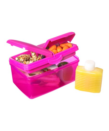Pink 93-Oz. Quaddie Lunch Box Set