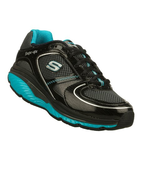 Black & Turquoise Shape-Ups S2 Lite Walking Shoe - Women