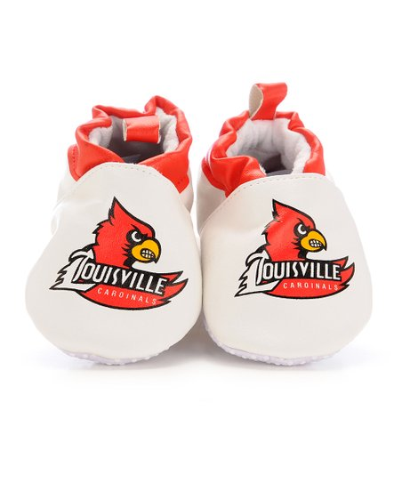 White & Red Louisville Booties - Kids