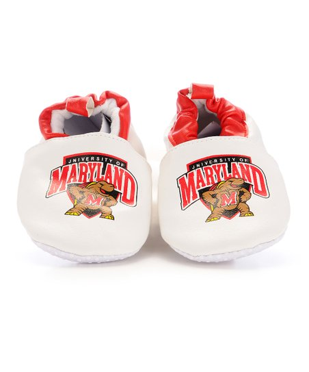 White & Red Maryland Booties - Kids