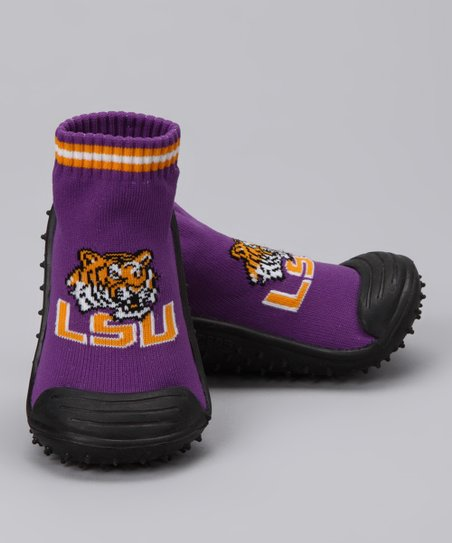 Purple Louisiana State Gripper Shoe - Kids