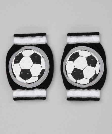 Black Soccer Gripper Kneepads
