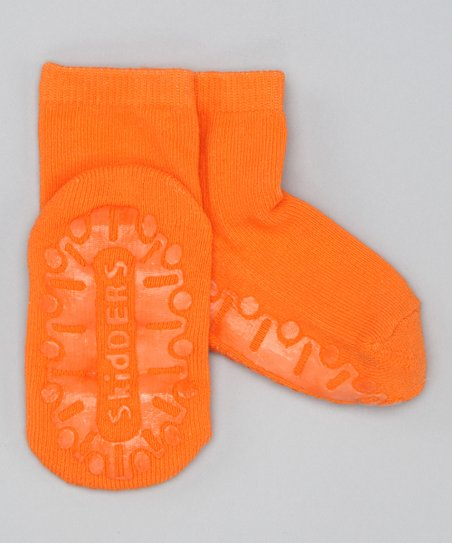 Orange Crystal Gripper Socks