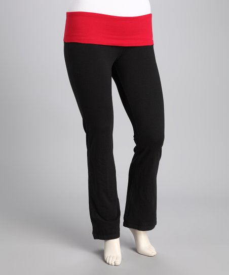 Cherry Red Yoga Pants - Women
