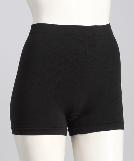 Black Seamless Shaper Boyshorts