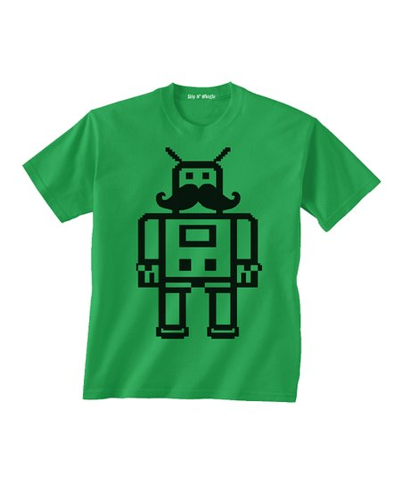 Kelly Green Mustache Tee - Toddler &amp; Boys