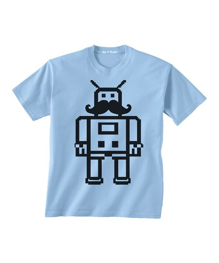 Light Blue Mustache Tee - Toddler & Boys