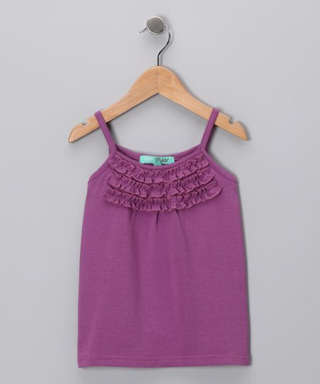 Grape Ruffle Tank - Toddler & Girls