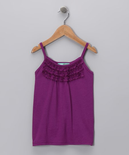 Purple Ruffle Tank - Toddler & Girls