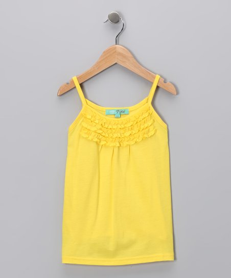Yellow Ruffle Tank - Toddler & Girls