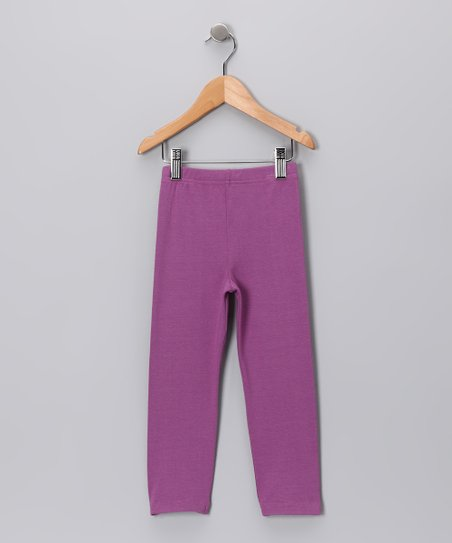 Grape Leggings - Toddler & Girls