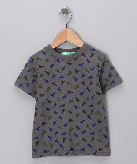 Gray Airplane Tee - Toddler & Boys