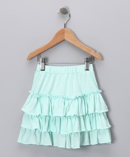 Aqua Ruffle Skirt - Toddler & Girls