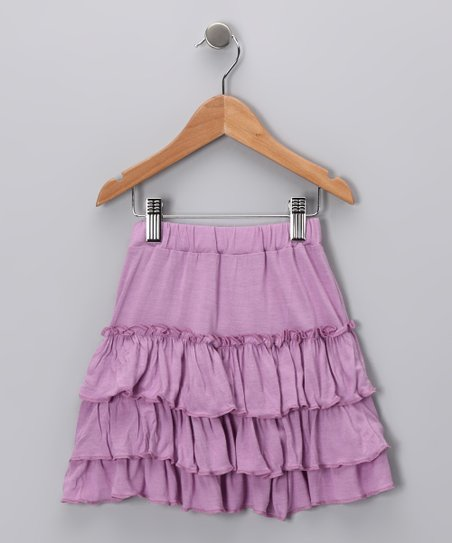 Plum Ruffle Skirt - Toddler & Girls