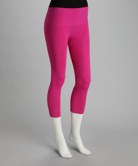 Fuchsia High-Waisted Shaper Leggings - Women