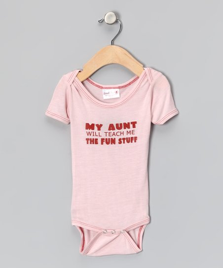 Pink 'My Aunt Will' Organic Bodysuit - Infant