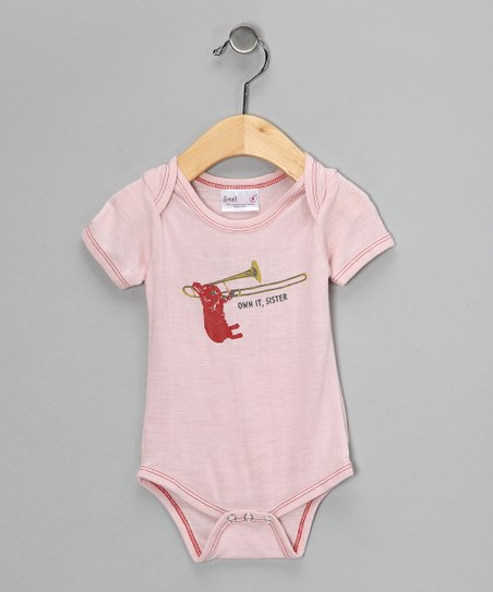 Light Pink Bunny Organic Bodysuit - Infant